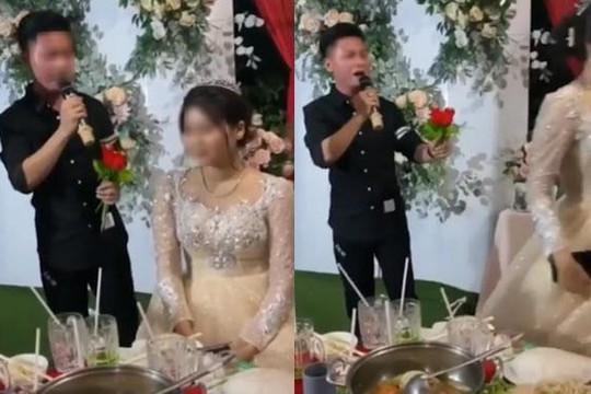 Clip bạn trai cũ uống say hát 'Cứ ngỡ là anh' ở đám cưới, cô dâu xinh bỏ đi