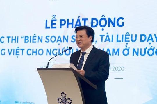 Hơn 1 tỉ đồng dành cho 'Cuộc thi  biên soạn sách, tài liệu dạy và học tiếng Việt cho người Việt Nam ở nước ngoài'