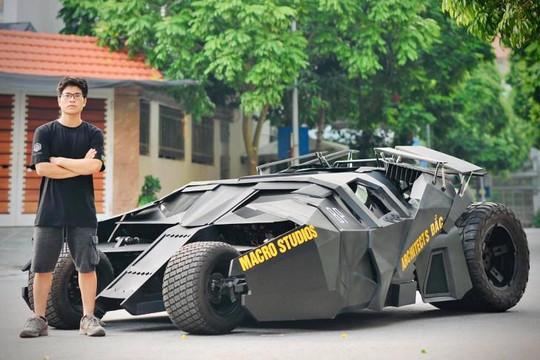 Sinh viên Việt Nam chế tạo thành công xe 'Người dơi' Batmobile