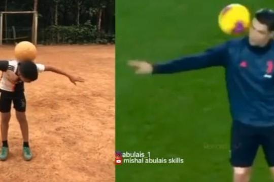 Triệu người xem clip cậu bé tái hiện kỹ thuật tuyệt đỉnh của Ronaldo