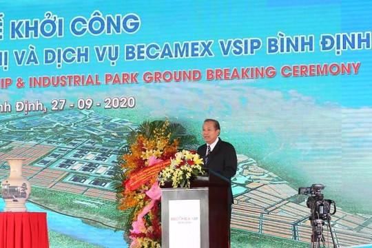 Bình Định: Khởi công KCN Becamex VSIP,  khánh thành tuyến Nhơn Hội - Phù Cát