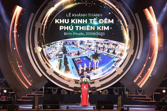 Khánh thành Khu kinh tế đêm đầu tiên tại thành phố Đồng Xoài