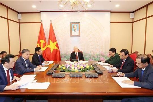 Tổng bí thư, Chủ tịch nước hai nước Việt - Trung điện đàm trao đổi