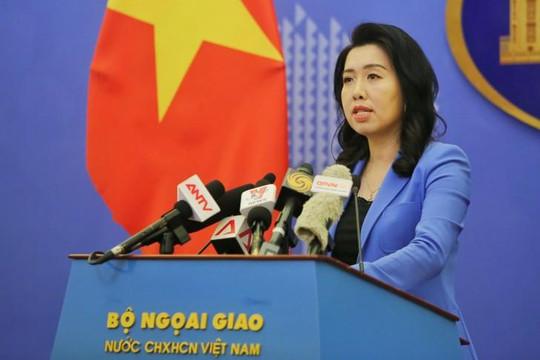 Việt Nam phản đối Trung Quốc tập trận bắn đạn thật gần Hoàng Sa