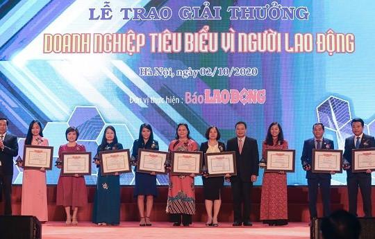 Công ty Yến sào Khánh Hòa và Công ty CP NGK Yến sào Khánh Hòa lần 2 lọt 'Top 50 doanh nghiệp tiêu biểu vì người lao động'