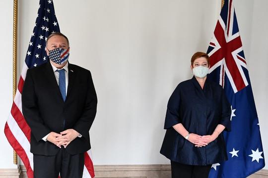 Gặp đồng cấp Úc, Ngoại trưởng Mỹ quan ngại với 'hoạt động ác ý' của Trung Quốc