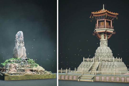 Dùng công nghệ 3D phục dựng tháp cổ chùa Dạm