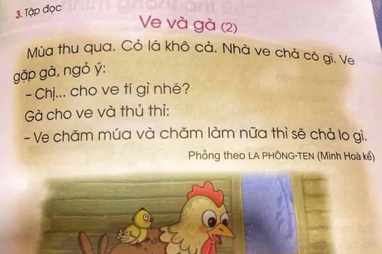 Phụ huynh bức xúc với nội dung sách Tiếng Việt lớp 1