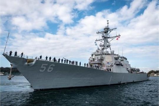 Tàu khu trục Mỹ mang tên lửa USS John McCain tới gần Hoàng Sa, Trung Quốc hăm dọa