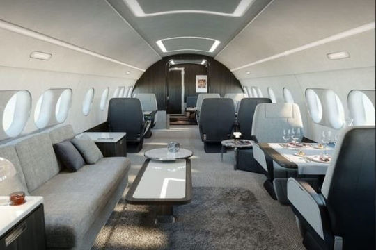 Chiêm ngưỡng nội thất máy bay tư nhân Airbus ACJ 220 giá 70 triệu USD