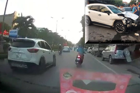 Clip tài xế 2k say xỉn lái ô tô tông hàng loạt xe ở Hà Nội rồi bỏ chạy