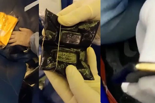 Khách bị phát hiện giấu số vàng hơn 5,2 tỉ đồng dưới ghế máy bay, tất, quần lót