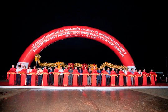 Khánh thành dự án điện mặt trời lớn nhất Đông Nam Á