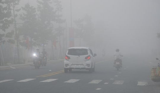 Sóc Trăng: Sương mù dày đặc vào sáng sớm