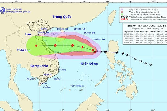 Cảnh báo: Bão số 8 vào Biển Đông, gió giật cấp 14, sóng cao 8 mét