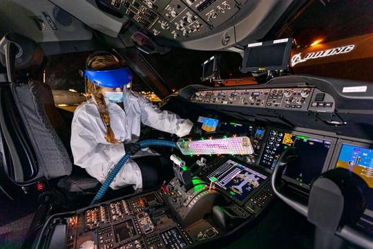 Thử nghiệm thành công các dụng cụ và kỹ thuật ngừa COVID-19 trong hàng không