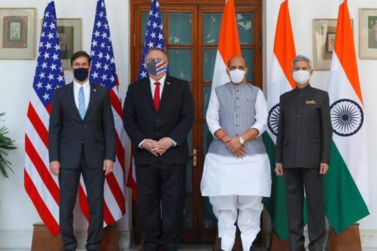 Ngoại trưởng Pompeo: Mỹ và Ấn Độ xích lại gần nhau hơn đối phó Trung Quốc