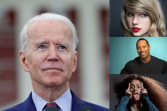 Nhiều người nổi tiếng ở Mỹ công khai ủng hộ ông Joe Biden