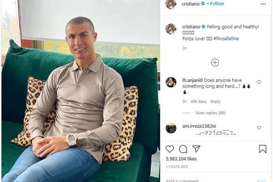 Ronaldo xóa bình luận thô tục về xét nghiệm COVID-19, MU vắng Telles khi gặp RB Leipzig