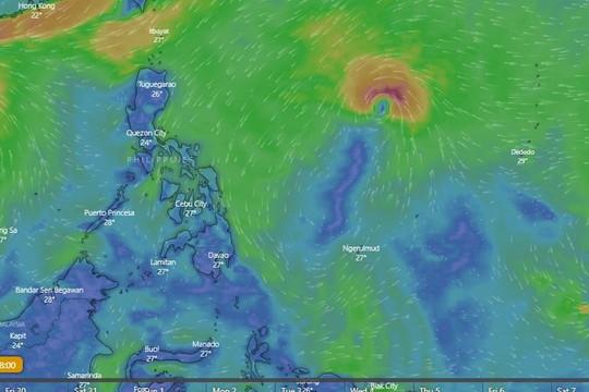 Sáng nay, cơn bão mới Goni được xác nhận ở đông Philippines