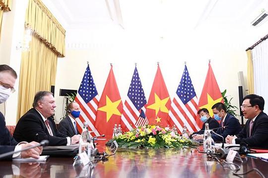 Ngoại trưởng Pompeo: Mỹ ủng hộ Việt Nam thịnh vượng, đóng vai trò quan trọng ở khu vực