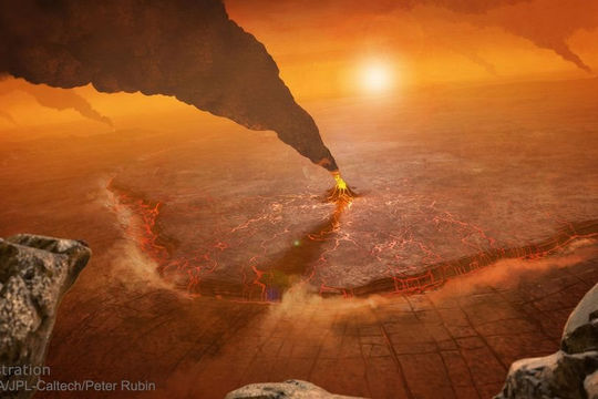 Hình ảnh đáng kinh ngạc về vụ phun trào núi lửa trên sao Kim