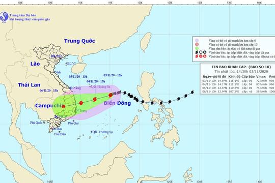 Tin bão khẩn cấp: Bão số 10 cách Hoàng Sa 370 km