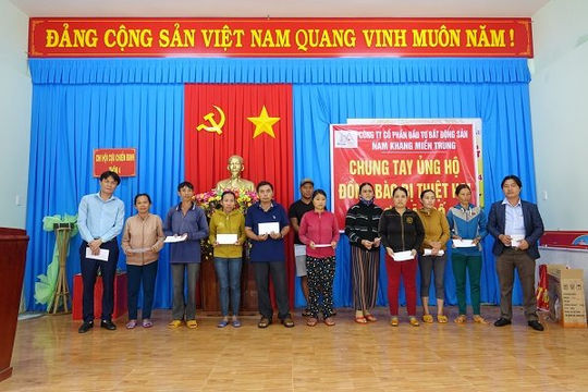 Nam Khang Group chia sẻ khó khăn cùng người dân miền Trung bị thiệt hại do bão số 9