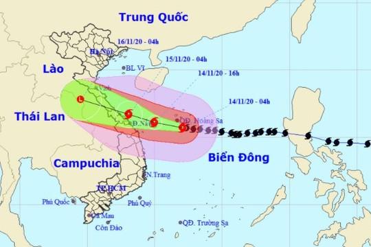 Bão số 13 giật cấp 17 hướng vào Đà Nẵng - Thừa Thiên Huế, gây mưa rất to khu vực Nghệ An - Quảng Nam