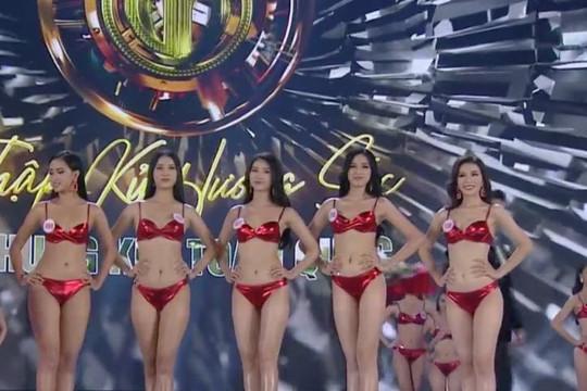 Clip thi trình diễn bikini chung kết Hoa hậu Việt Nam 2020