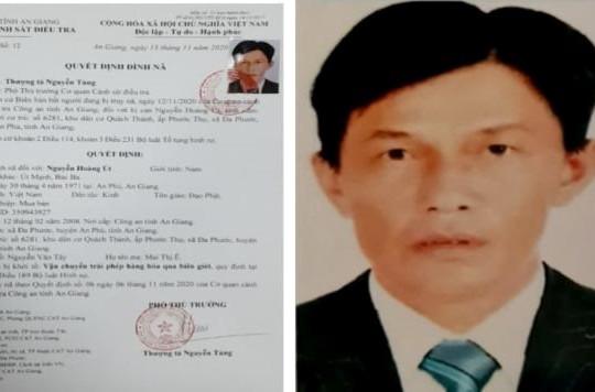 An Giang: Bắt kẻ bị truy nã đặc biệt nguy hiểm trong vụ vận chuyển 51kg vàng qua biên giới