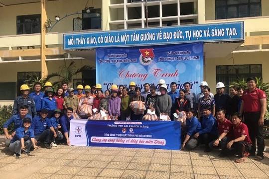 Đoàn Thanh niên EVNHCMC hướng về miền Trung ruột thịt