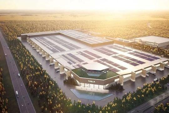 Tesla xây dựng nhà máy pin xe điện lớn nhất thế giới