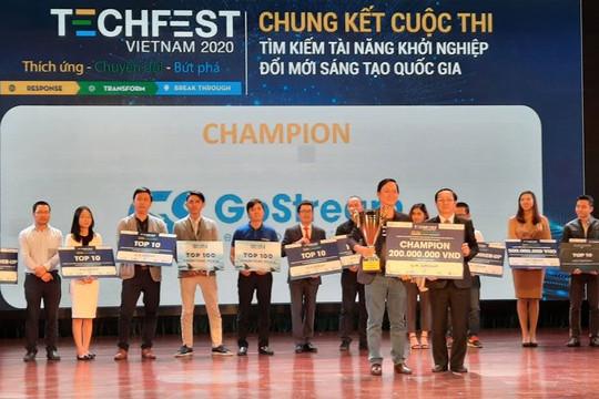 Quán quân ''Tìm kiếm tài năng khởi nghiệp đổi mới sáng tạo quốc gia'' nhận giải thưởng 200 triệu đồng