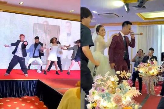 Clip khách nhảy 'Giàu vì bạn, sang vì vợ' của MCK, chú rể hát 'Tuyết yêu thương'
