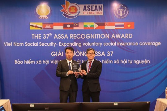 BHXH Việt Nam nhận giải thưởng 'Tiếp tục cải tiến' của ASSA 37