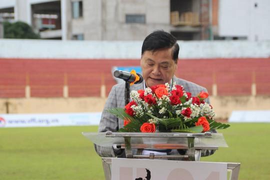 Video nhà báo Nguyễn Công Khế phát biểu trước trận chung kết U.21 Quốc gia 2020