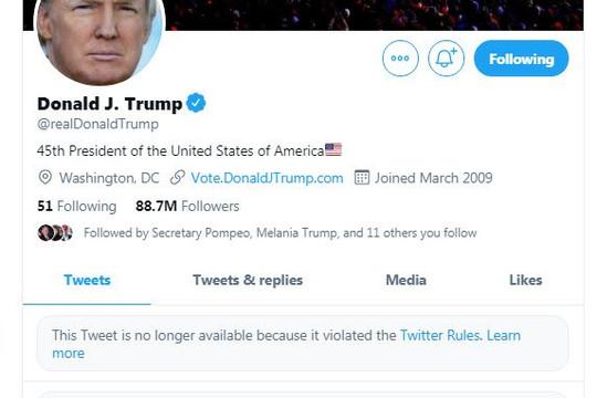 Twitter và Facebook tạm khóa tài khoản Trump, Chánh văn phòng Melania Trump từ chức