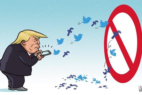 Báo Trung Quốc: Trump sống dở chết dở trên MXH, sẽ bị cấm vĩnh viễn tài khoản Facebook