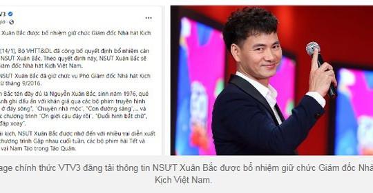 Vừa được bổ nhiệm làm Giám đốc Nhà hát Kịch Việt Nam, Xuân Bắc bị 'bóc mẽ' quá khứ