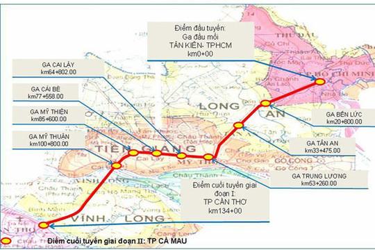 Nhà đầu tư Mỹ, Anh, Canada quan tâm dự án đường sắt 10 tỉ USD nối TP.HCM - Cần Thơ