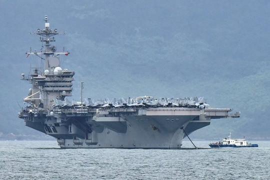 Hai tàu sân bay Mỹ tập trận trên Biển Đông