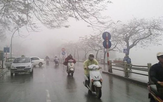 Miền Bắc chuyển mưa rét trong ngày đầu đi làm sau Tết