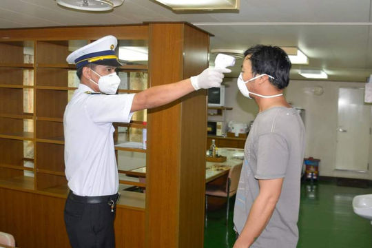 Tàu Ocean Amazing rời vùng biển Việt Nam cùng các thủy thủ mắc COVID-19