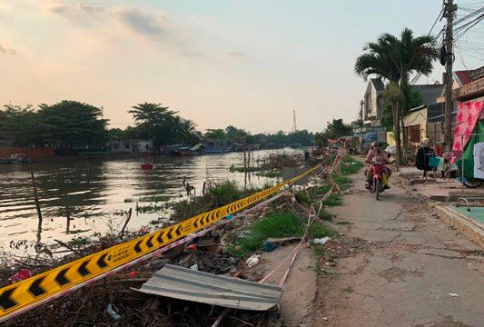 Cần Thơ: Rạch Cái Sơn 'hoang tàn' do dự án kè bờ sông chậm tiến độ