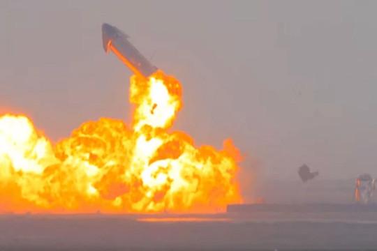 Tàu Starship SN10 của SpaceX phát nổ sau khi hạ cánh thành công