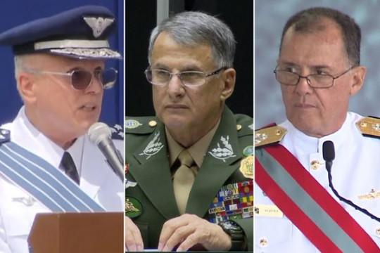 Ba vị tướng chỉ huy lục quân, không quân, hải quân Brazil đồng loạt từ chức