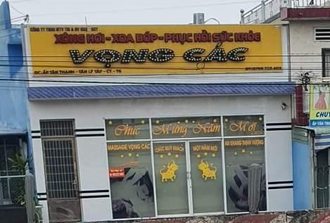 Tiền Giang: Ba đôi nam nữ mua bán dâm trong tiệm massage Vọng Các