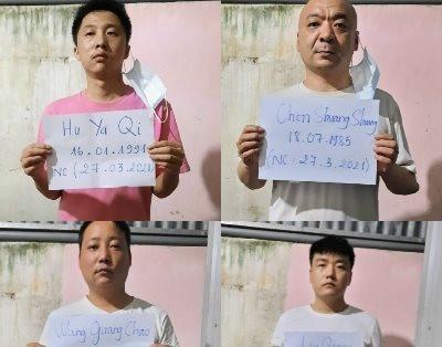 An Giang: Bắt 4 người Trung Quốc nghi vấn xuất nhập cảnh trái phép