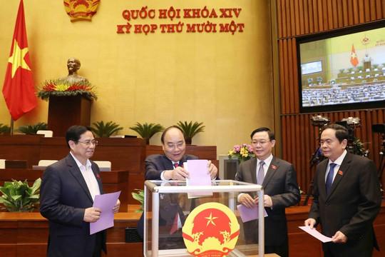 Ngày 7.4, Quốc hội phê chuẩn việc miễn nhiệm một số Phó Thủ tướng, Bộ trưởng